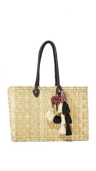 MISA Large Jane Box Bag In Black