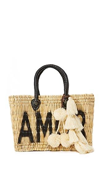 MISA Amor Jane Box Bag In Black
