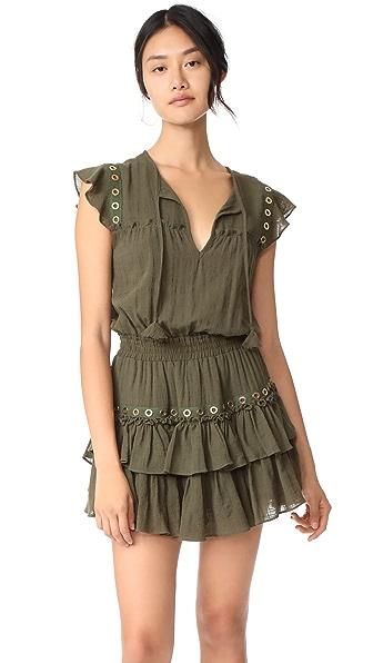 MISA Verene Dress In Olive Gauze