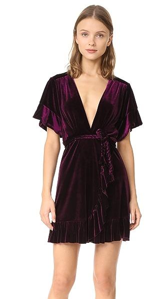 MISA Desma Dress In Plum Velvet