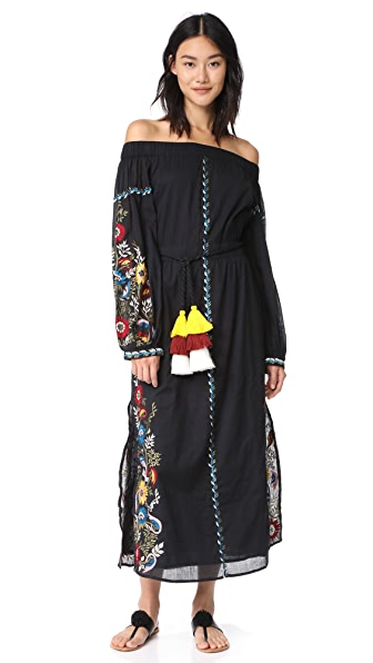 MISA Cerra Dress In Black Multi