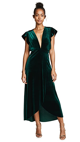 MISA Carolina Dress In Green