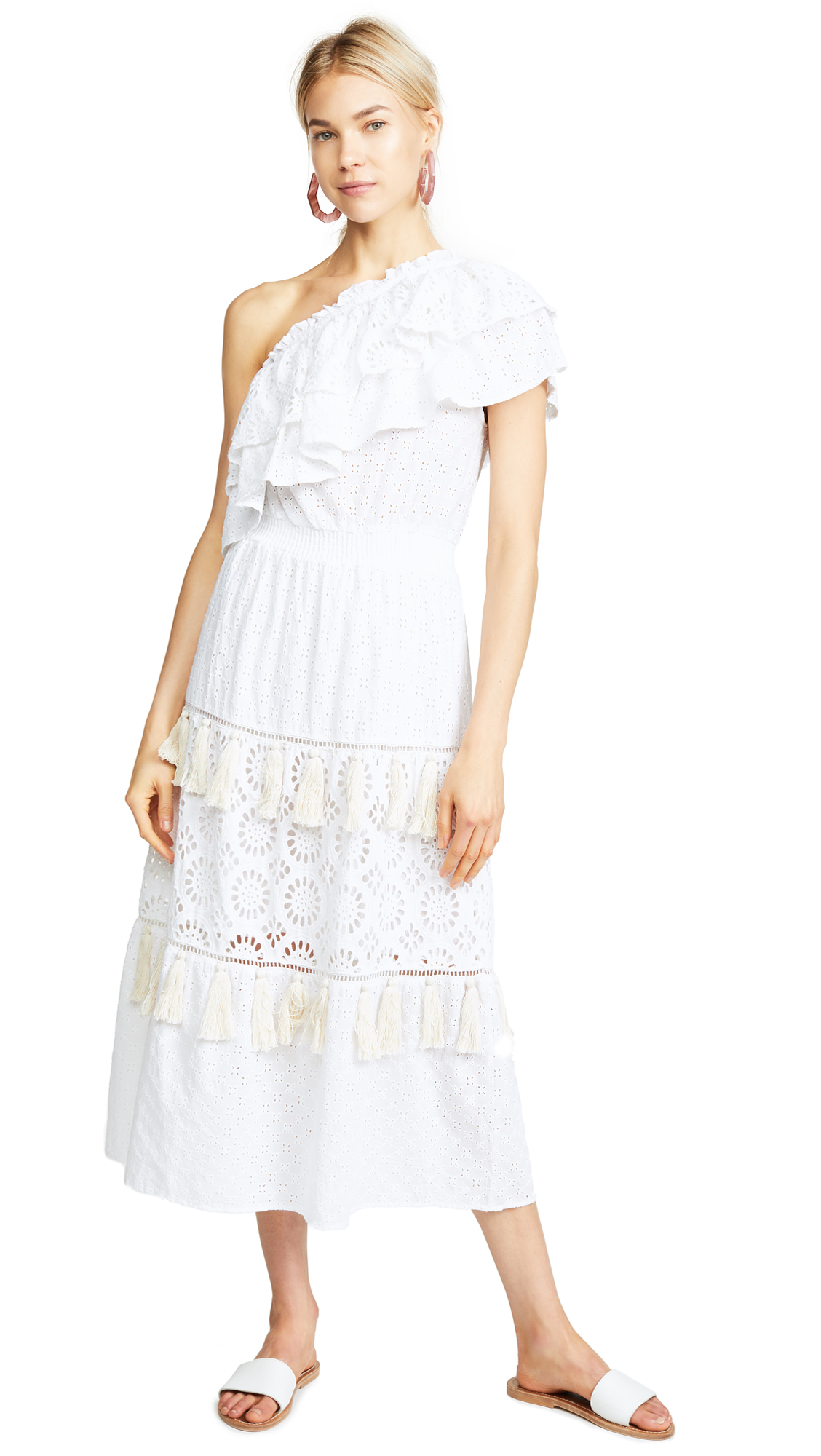 MISA Clea Dress In White