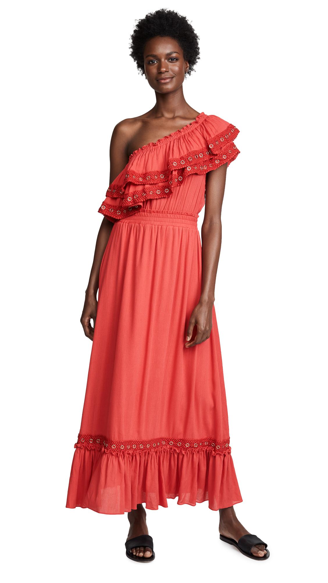 MISA Safa Dress In Red
