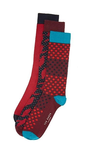 Ted Baker 3 Pack Socks