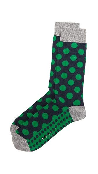 Ted Baker Edge Polka Dot Socks