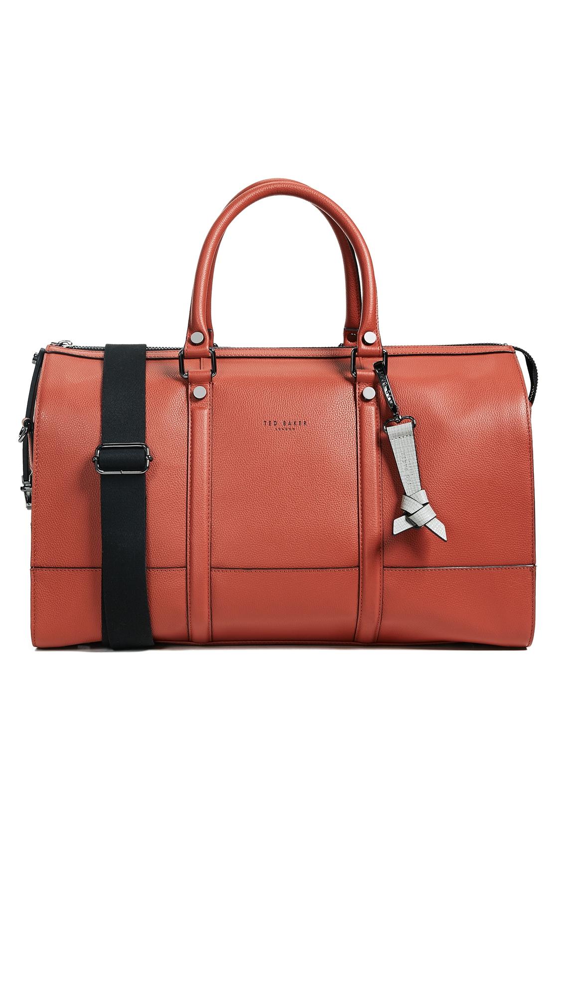 37dc9b87b780 Ted Baker Radical Duffel Bag In Dark Orange