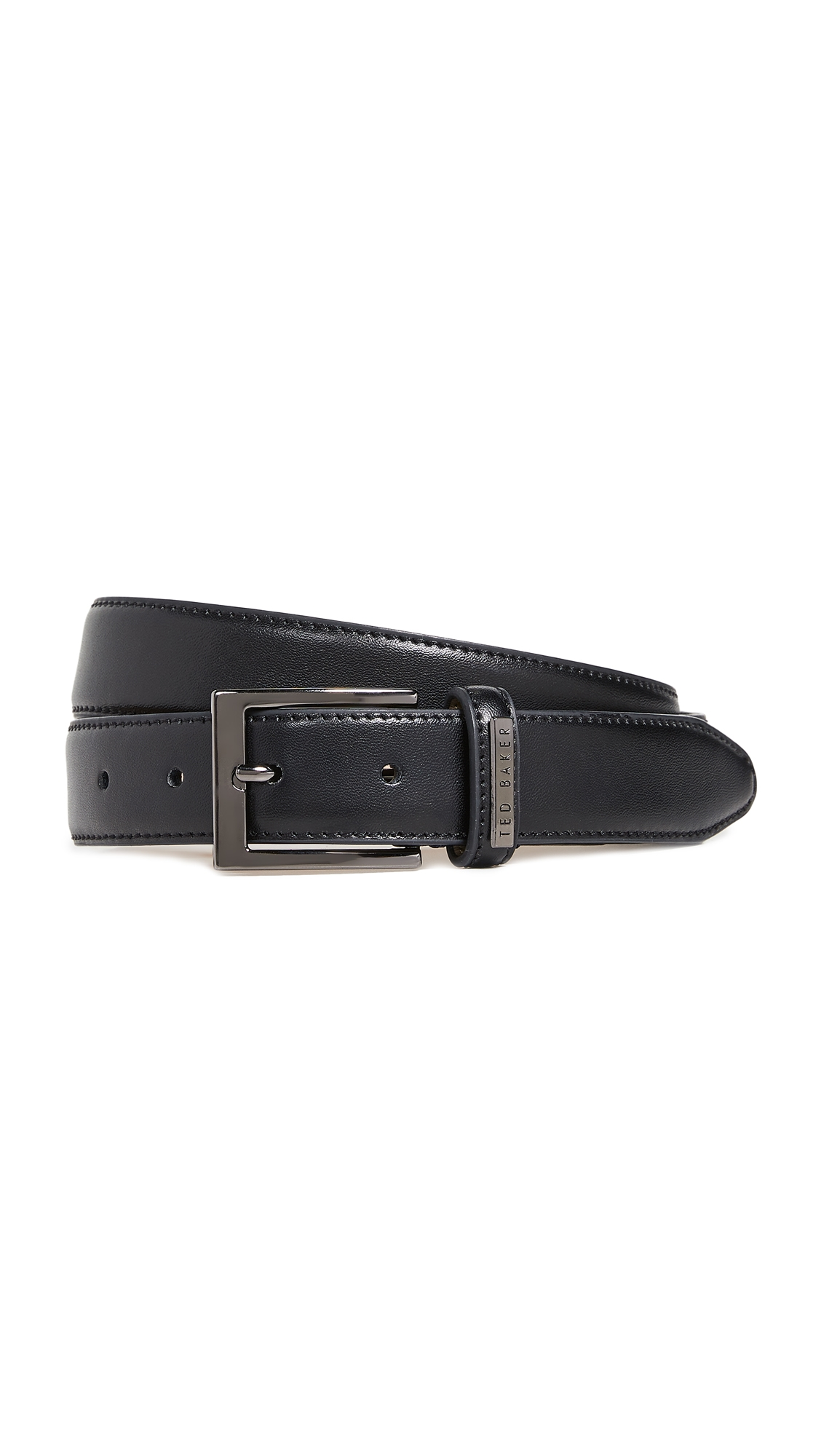 TED BAKER | Ted Baker Leather Keeper Plate Belt | Goxip