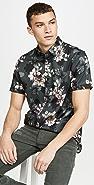 Ted Baker Verre Floral Short Sleeve Shirt