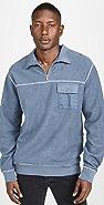 Tres Bien Half Zip Sweatshirt