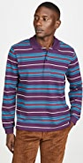 Tres Bien Long Sleeve Striped Polo