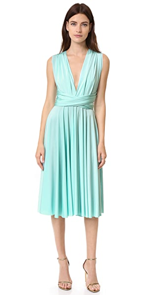 Twobirds Tea Length Convertible Dress In Paradise Turquoise