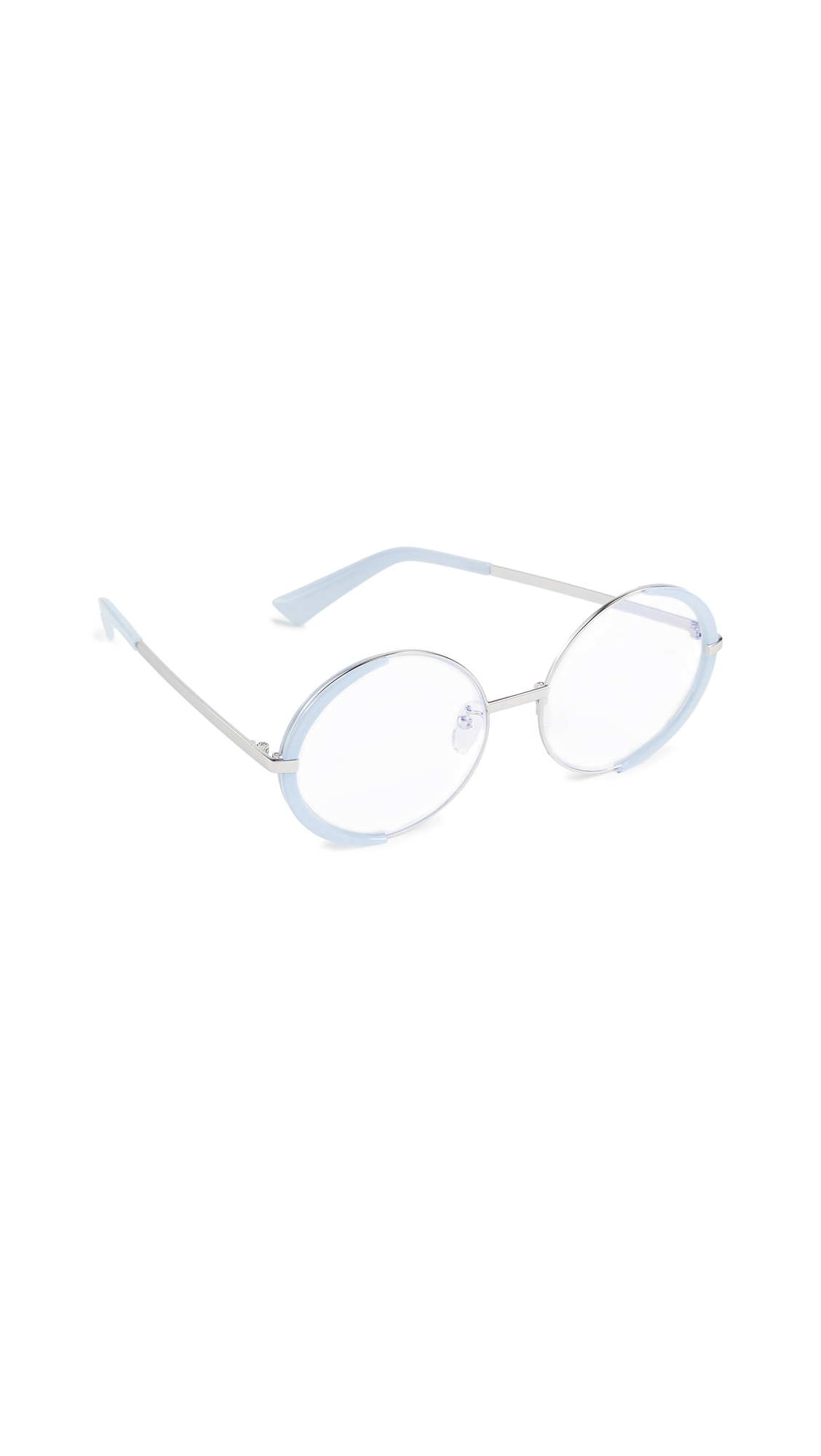 THE BOOK CLUB Surround The World Glasses in Lilac/Silver