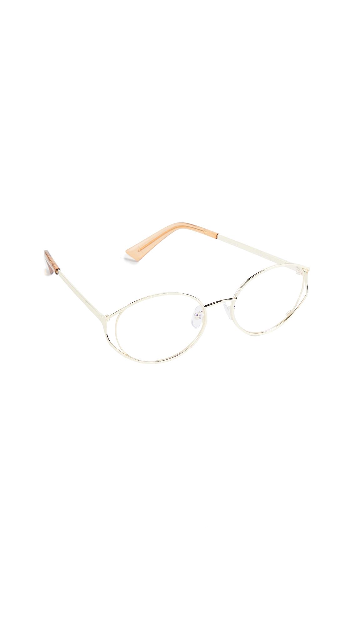 THE BOOK CLUB Spatula Glasses in Gold/Clay