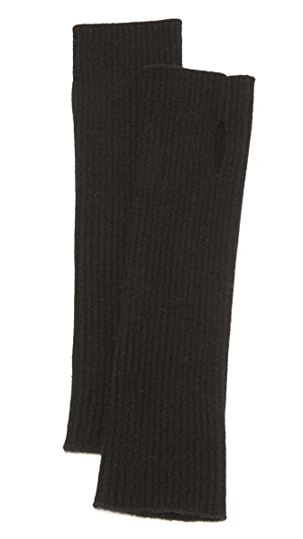 Tse Cashmere Cashmere Fingerless Gloves - Black