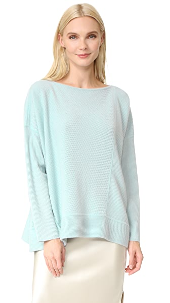 TSE Cashmere Cashmere Slit Neck Sweater