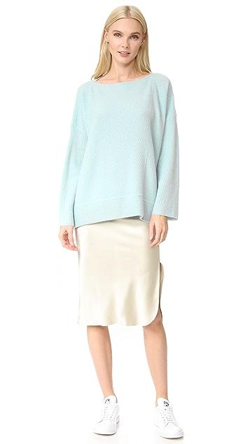TSE Cashmere Cashmere Slit Neck Sweater