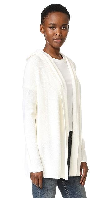 TSE Cashmere Long Sleeve Hooded Cashmere Cardigan