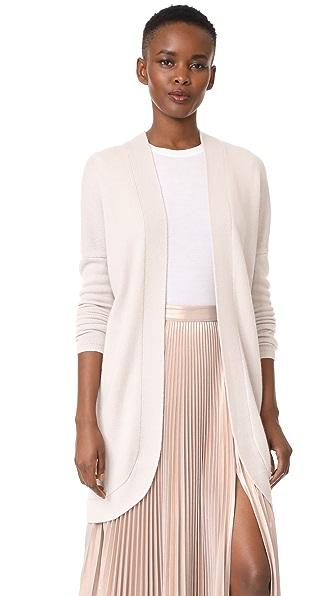 TSE Cashmere Long Sleeve Cocoon Cardigan - White Stone
