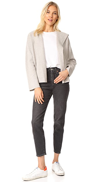 TSE Cashmere Cropped Jacket with Hood