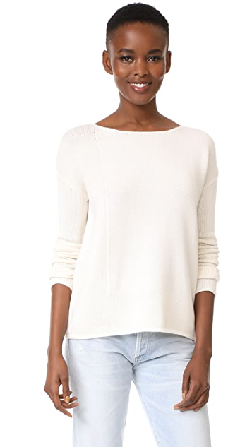 TSE Cashmere LS Intarsia Blocked Sweater