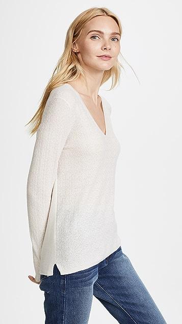 TSE Cashmere Long Sleeve V Sweater