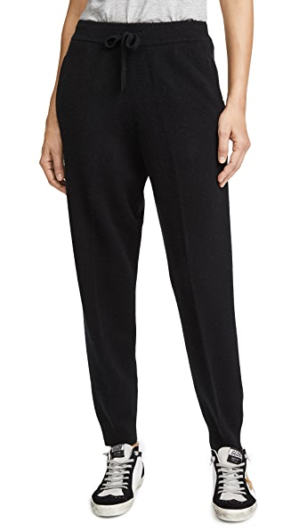 TSE Cashmere Drawstring Cashmere Jogger Pants In Black