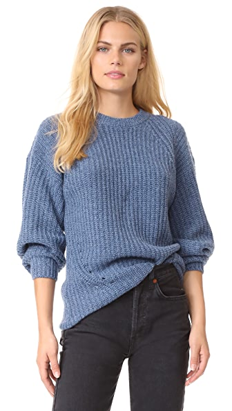 TSE Cashmere x Claudia Schiffer Long Sleeve Pullover - Denim