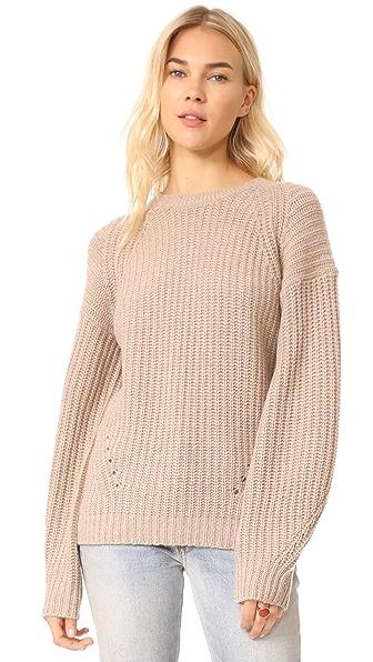 TSE Cashmere x Claudia Schiffer Long Sleeve Pullover - Dune