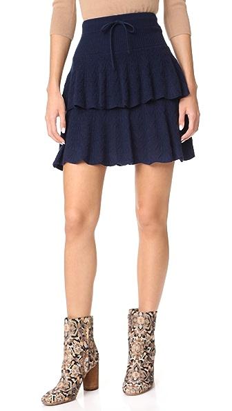 TSE Cashmere x Claudia Schiffer Skirt In Navy