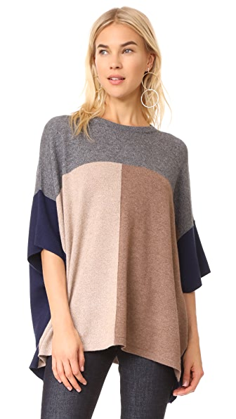 TSE Cashmere x Claudia Schiffer Colorblock Pullover