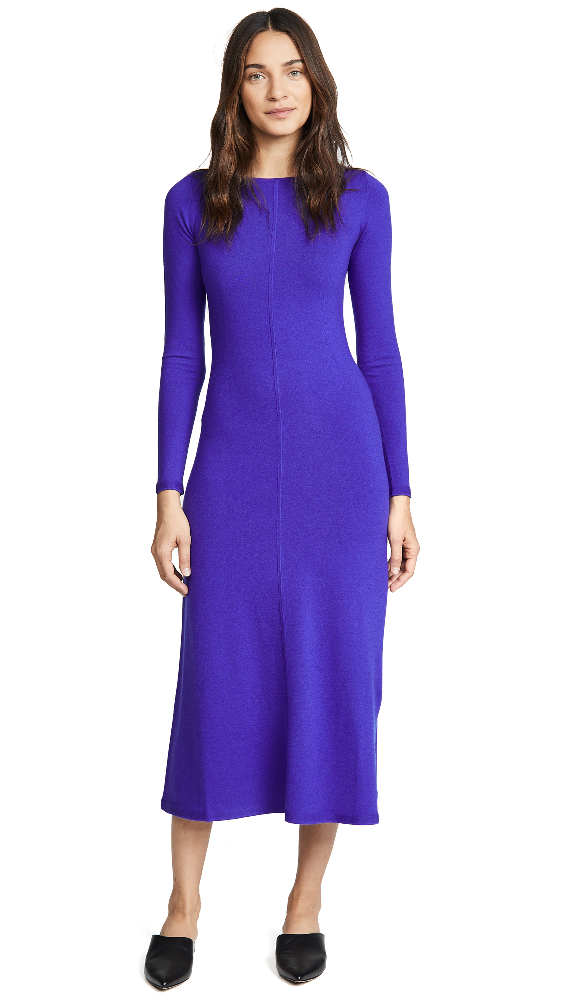 TSE Cashmere Long Sleeve Midi Dress