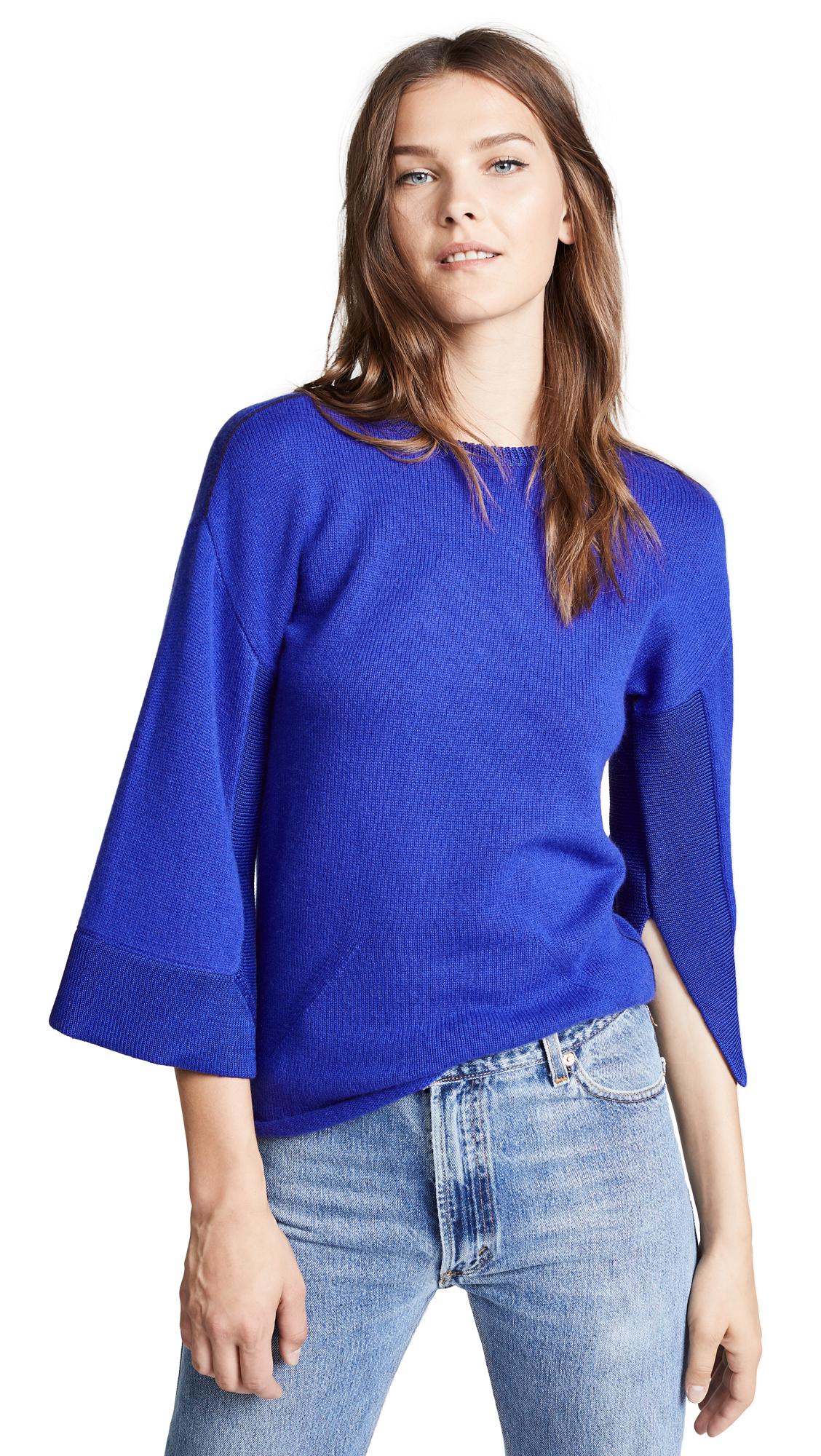 TSE Cashmere Kimono Sweater In Halogen Blue