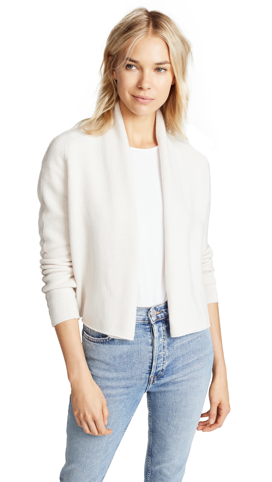 TSE CASHMERE CASHMERE CARDIGAN WITH CHAINETTE BEADS