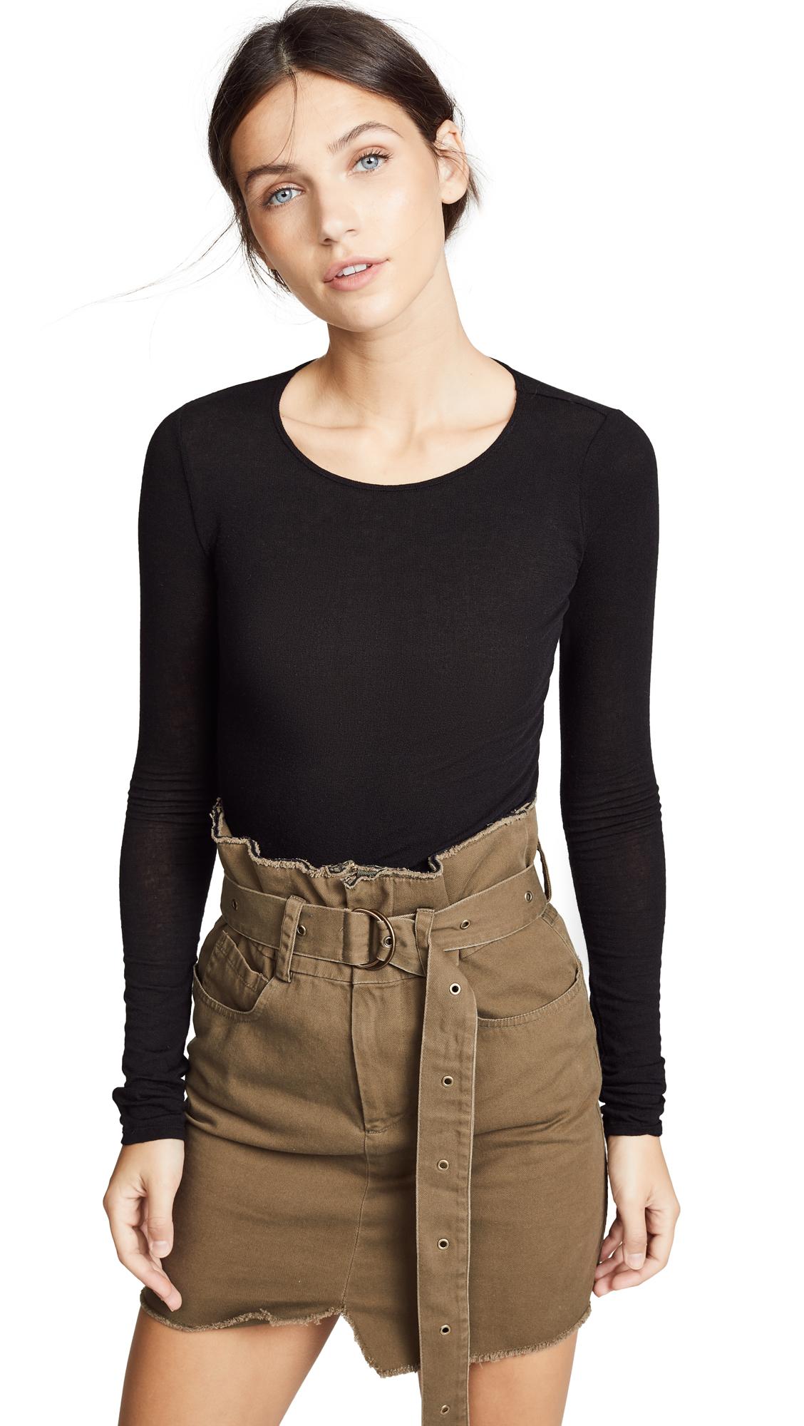TSE Cashmere Cashmere Skin Sweater In Black
