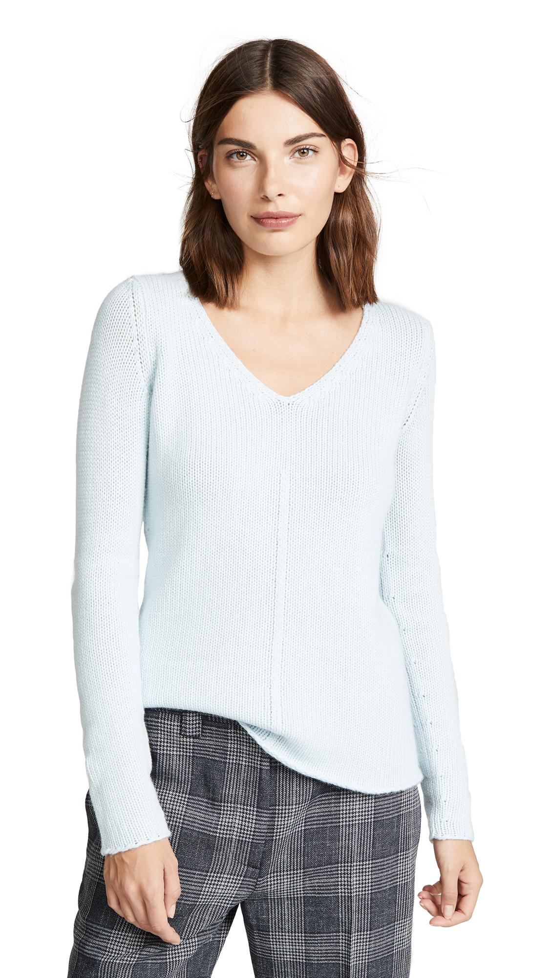TSE CASHMERE V Neck Sweater in Sky