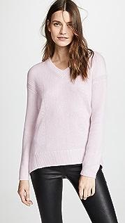 TSE Cashmere Кашемировый свитер-кокон с V-образным вырезом сзади