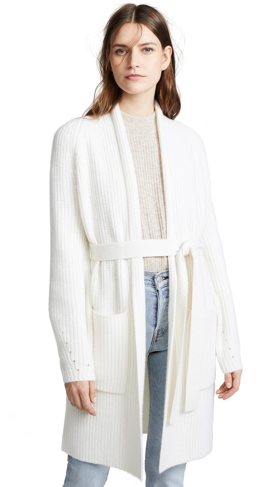 TSE CASHMERE Cashmere Cardigan Coat in Creme