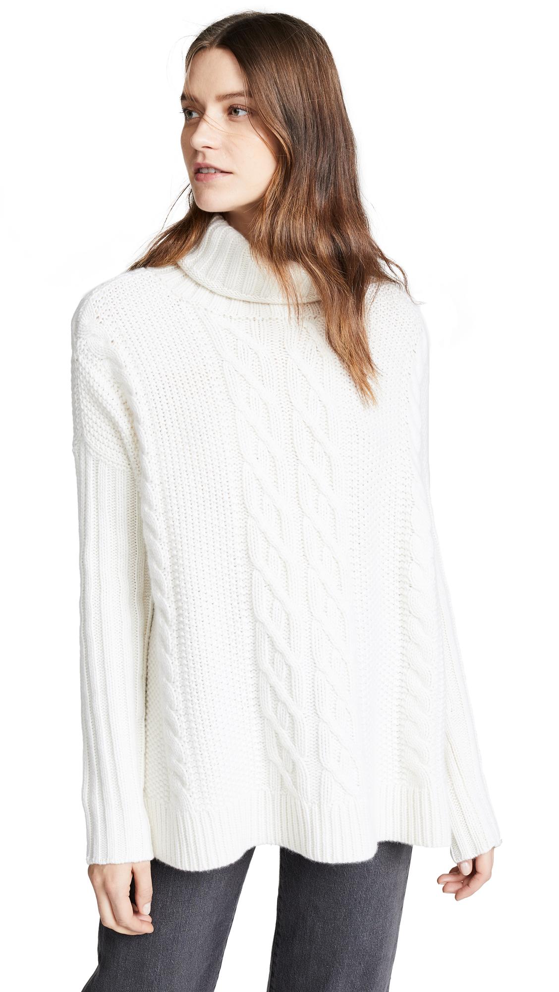TSE CASHMERE Cashmere Poncho Sweater in Crème
