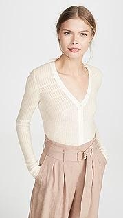 TSE Cashmere Ажурный свитер с передней застежкой