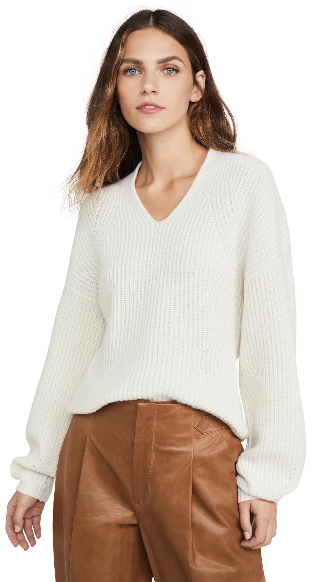 Buy TSE Cashmere online - photo of TSE Cashmere Shaped Ribbed Cashmere Sweater