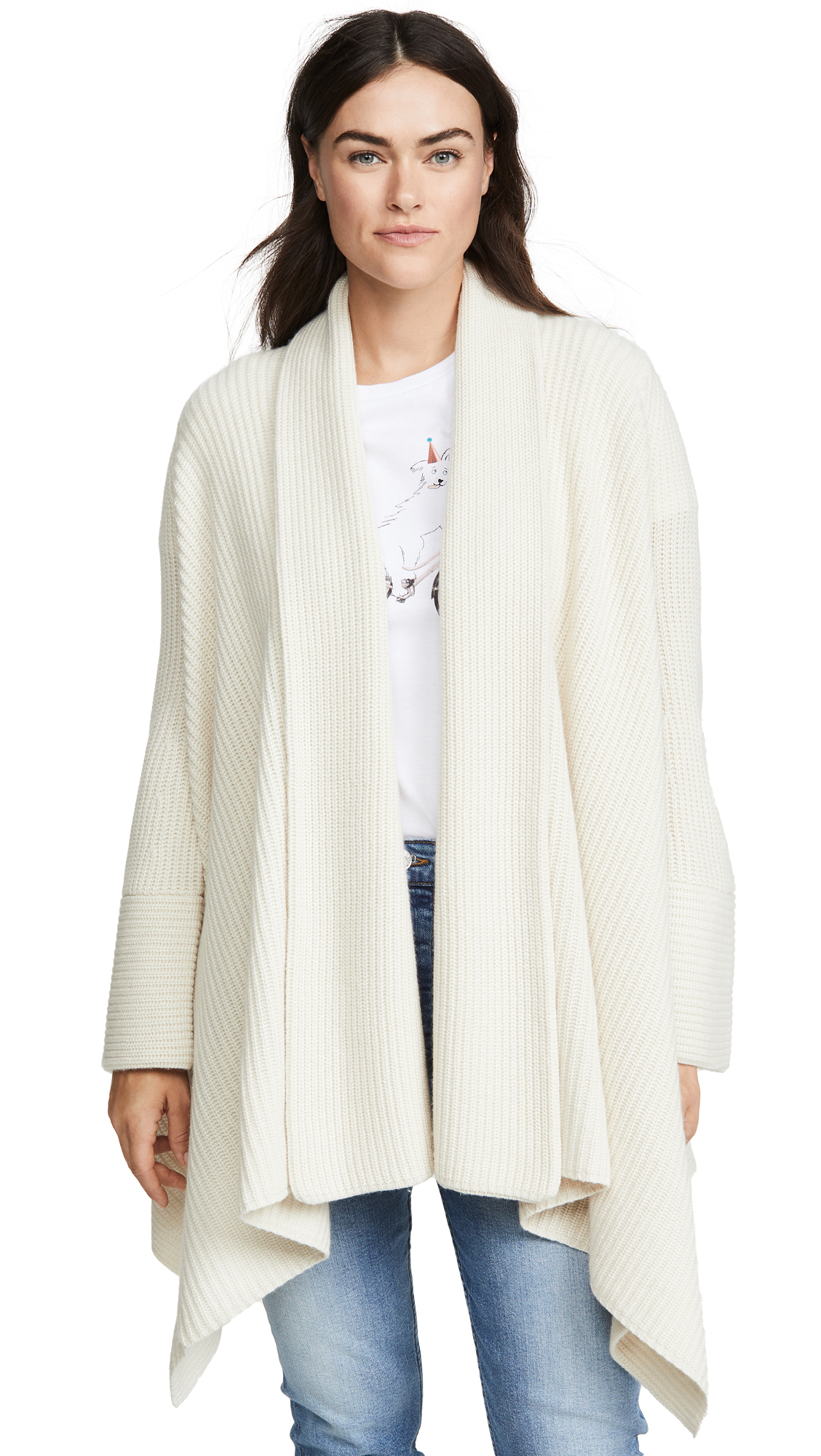 Buy TSE Cashmere online - photo of TSE Cashmere Diamon Draped Cashmere Cardi