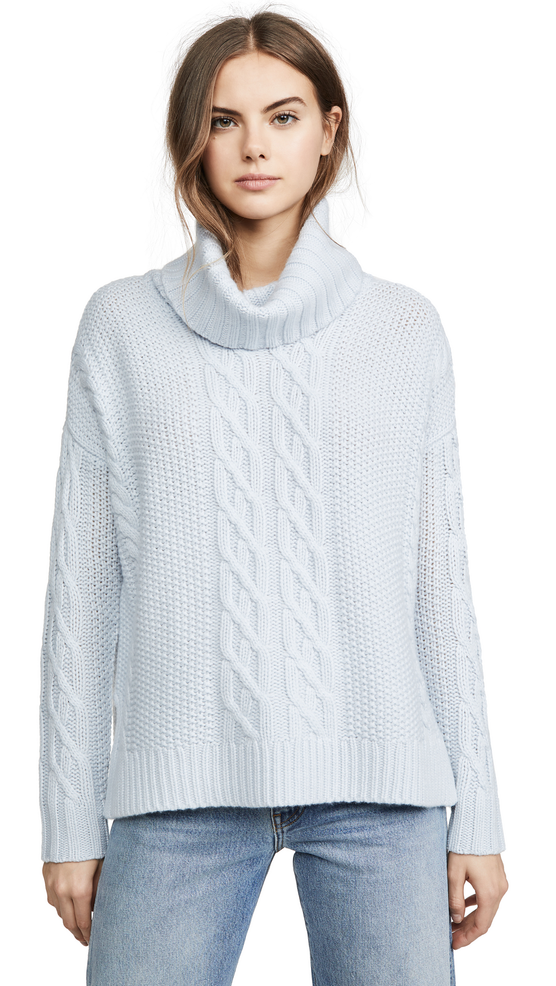 Buy TSE Cashmere online - photo of TSE Cashmere Cowl Neck Cashmere Poncho Sweater