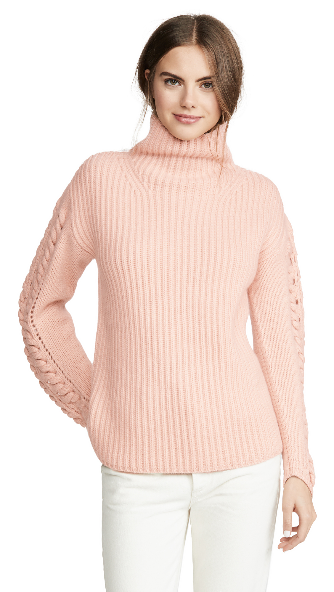 Buy TSE Cashmere online - photo of TSE Cashmere Cashmere Turtleneck with Braided Cording