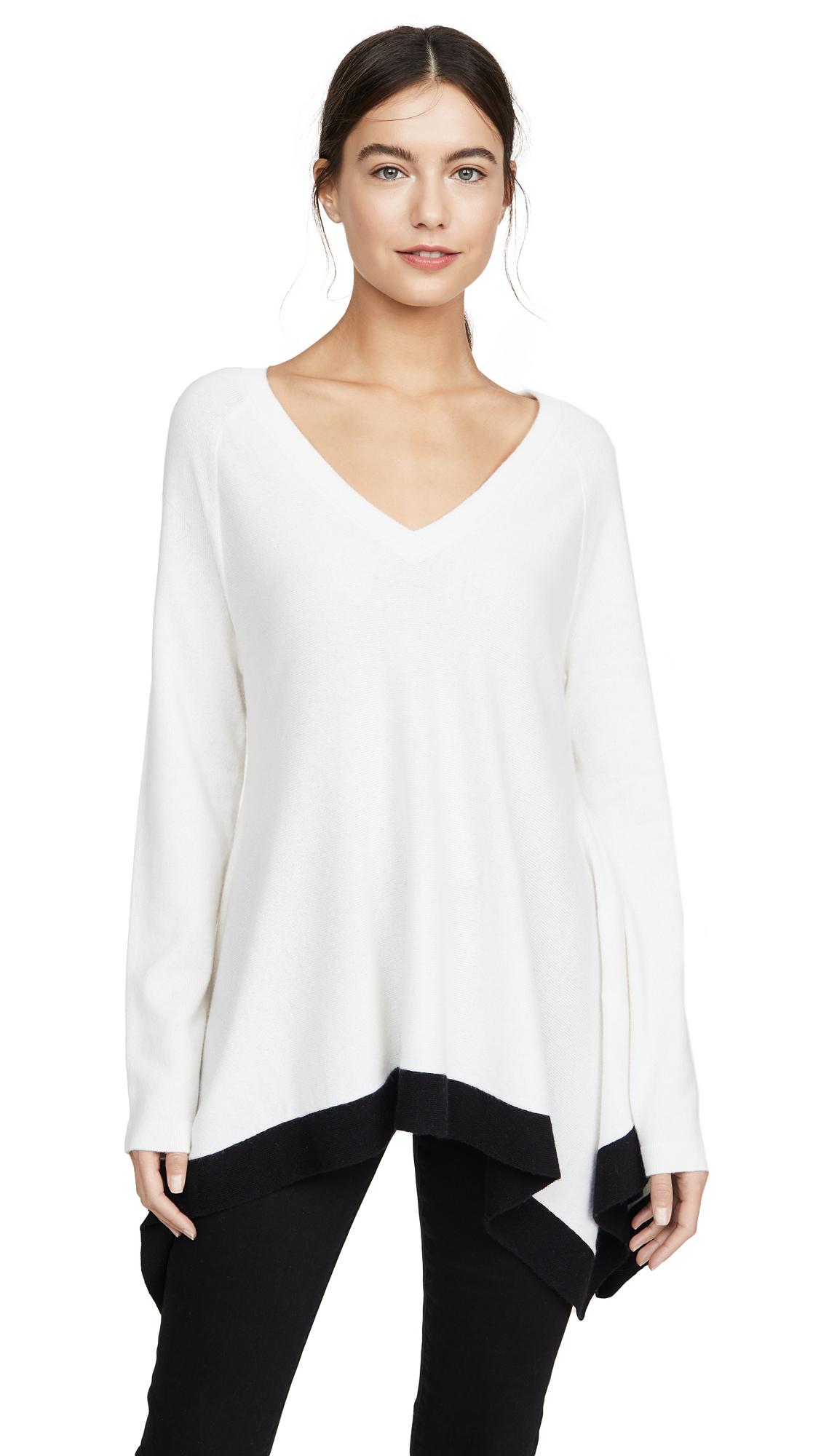 Buy TSE Cashmere online - photo of TSE Cashmere Draped V Neck Cashmere Sweater