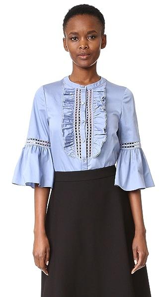 Temperley London Рубашка из хлопка Morganne
