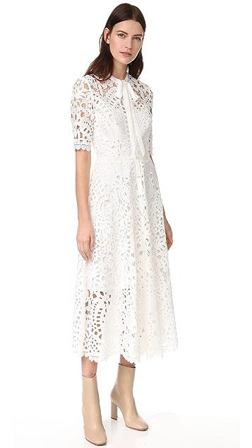 Temperley London Berry Lace Dress