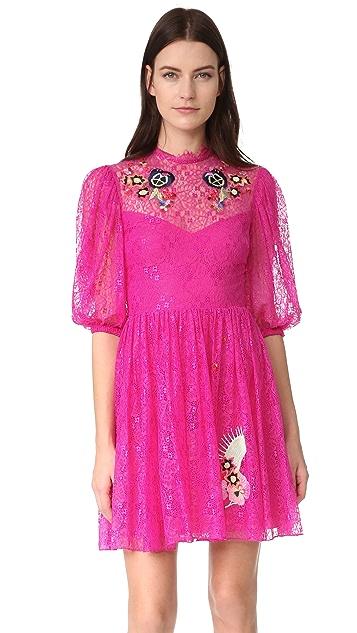 Temperley London Leo Lace Mini Dress