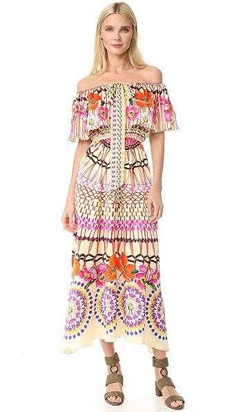 Temperley London Dreamcatcher Tie Dress - Pomegranate Multi