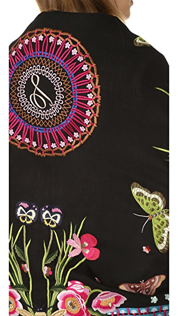 Temperley London Jimi Embroidery Scarf